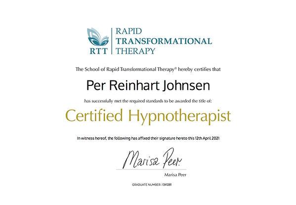 per reinhart johnsen cert hyp certificat