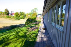 Sydsiden av barnehagen