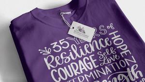 Hand-lettering T-shirt
