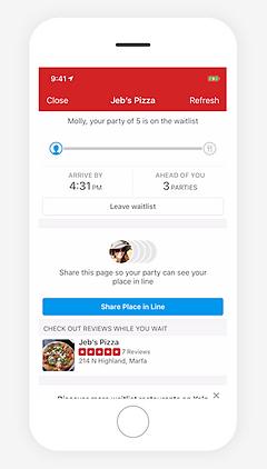 Yelp Waitlist Restaurant Waitlist And Reservations App
