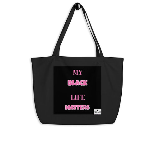 """Large """"MY"""" BLMS organic tote bag"""