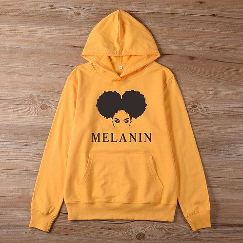 Melanin  Afro Puff Hoodie