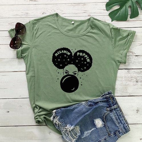 Afro Woman Graphic  T-shirt
