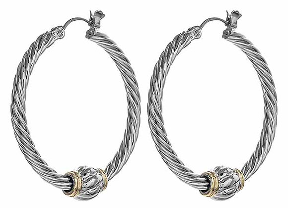 Twisted Rope Hoop Fashion Earrings
