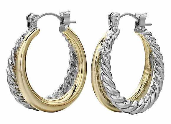 Double Loop Fashion Earrings