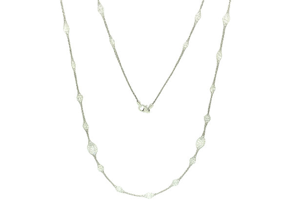 "Selene 36"" Necklace Platinum"