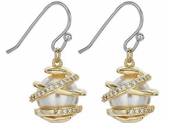 Pearl Style CZ Fashion Earrings