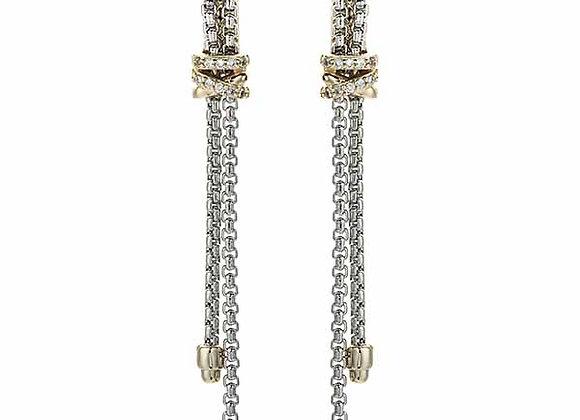 Fashion Drop Double Strand Earrings