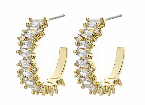 CZ Half Hoop Fashion Earrings