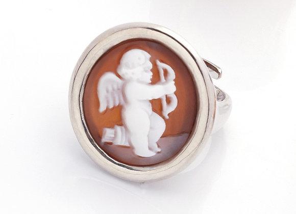 Amalfi Cameo Cherub Ring