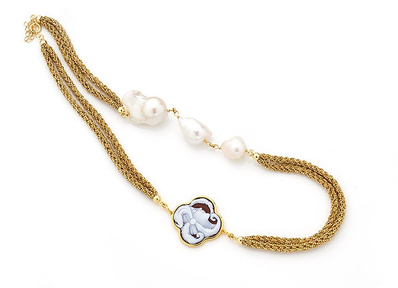 Amalfi Cameo and Pearl Necklace