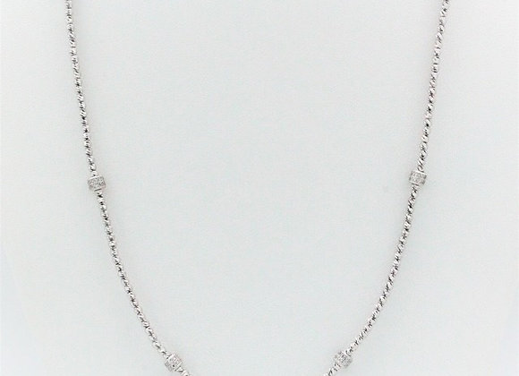 "Briolette 36"" Necklace Platinum"