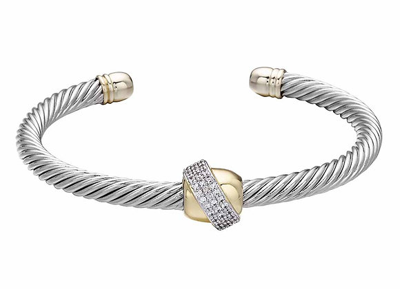 Twisted Rope CZ Cuff