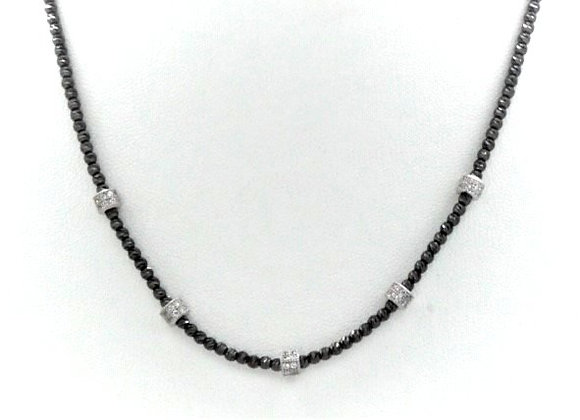 Briolette Collar Necklace Black