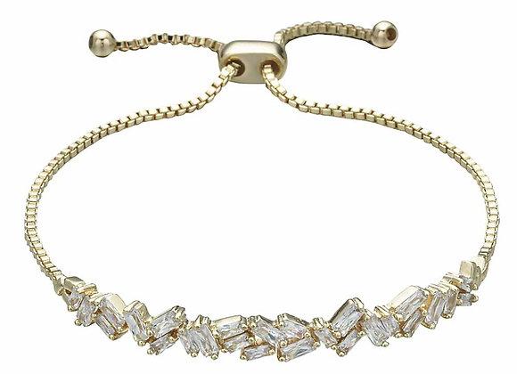 CZ Cluster Strand Bracelet
