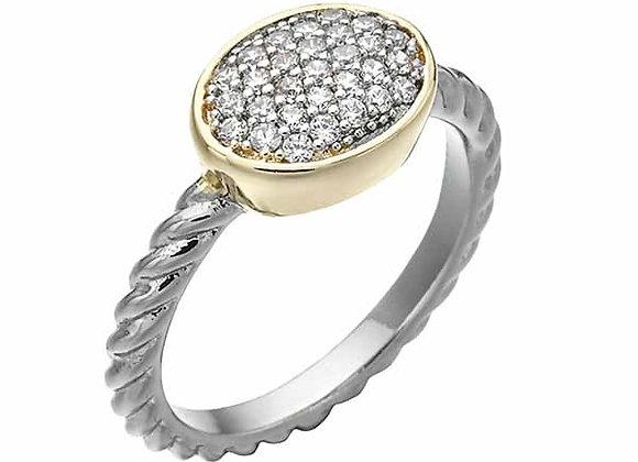 Round CZ Cluster Fashion Ring