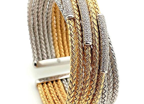 Anna Bella Wide Cross Over Cuff Bracelet