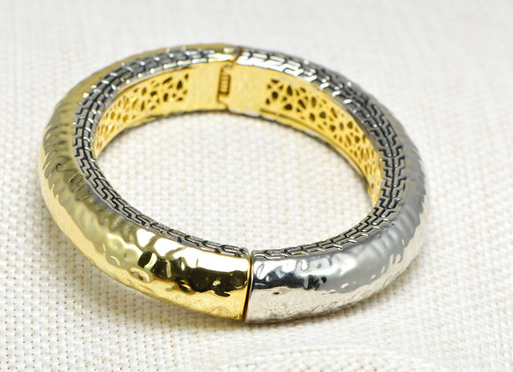 Two Tone Rounded Bangle