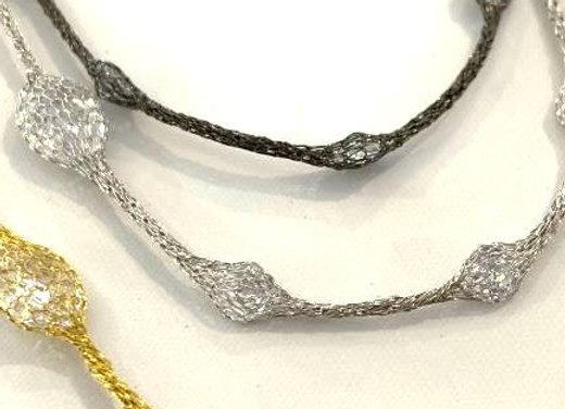 Selene Collar Necklace Black