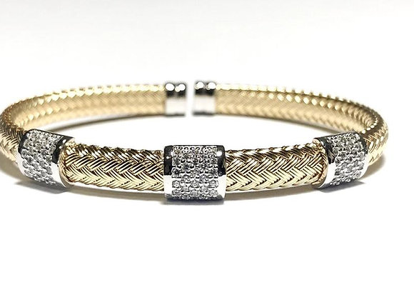 Anna Bella 3 Station Cuff Bracelet
