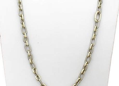 Long Interlocking Chain Fashion Necklace