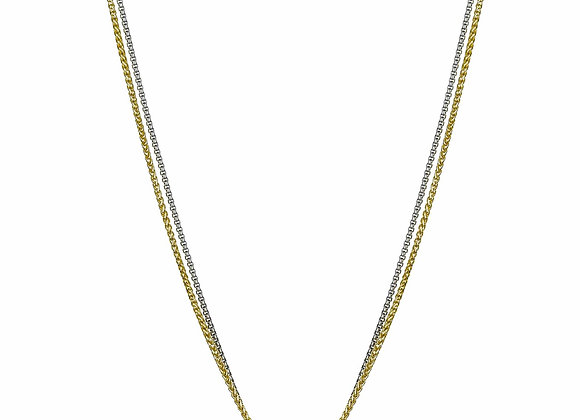 Double Strand CZ Fashion Necklace