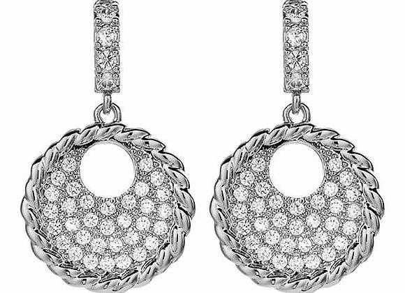 Fashion CZ Medallion Earrings