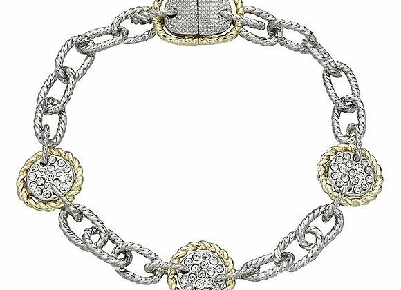 Fashion Two Tone CZ Bracelet