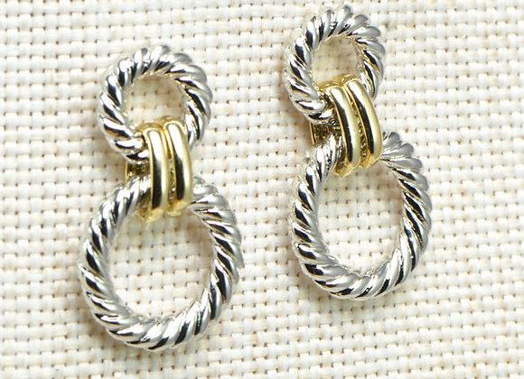 Twisted Double Loop Earrings