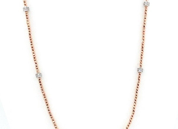 """Briolette 36"""" Necklace Rose"""