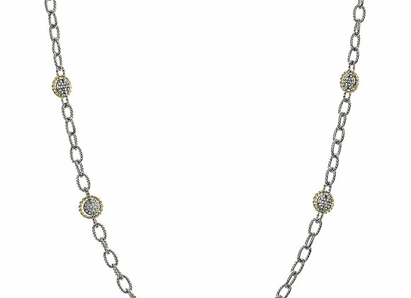 Long CZ and Chainlink Fashion Necklace
