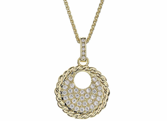 CZ Medallion Fashion Necklace
