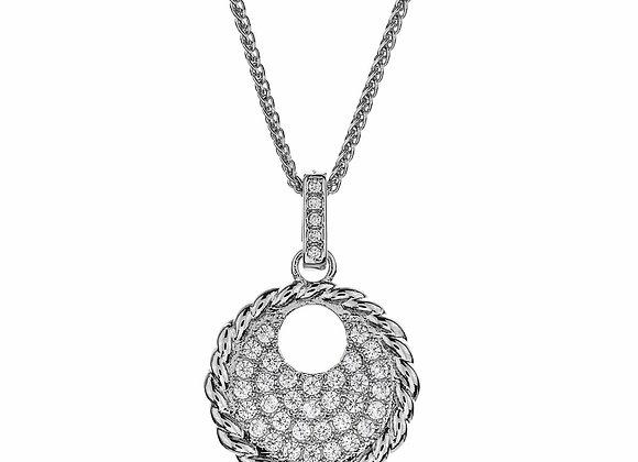 CZ Medallion Fashion Necklace