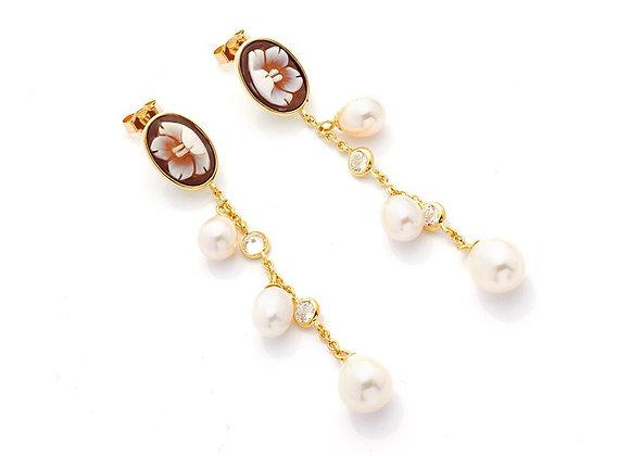 Amalfi and Fresh Water Pearls Earrings