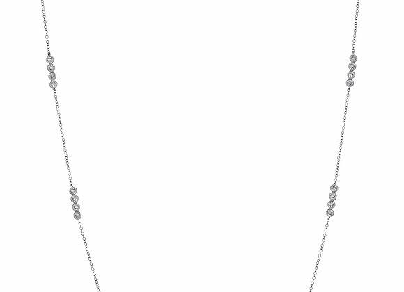 Long CZ Station Fashion Necklace