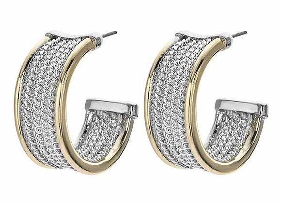 Twisted Rope Half Hoop Fashion Earrings
