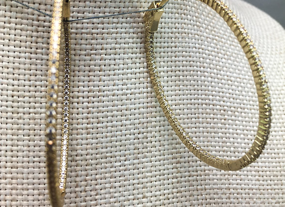 Thin Large Hoops with CZs