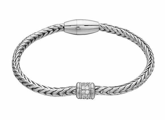 Palma CZ Bracelet Rhodium