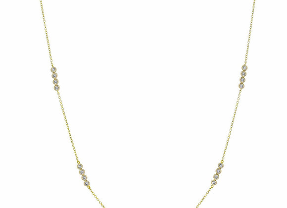 Long CZ Station Fashion Necklace