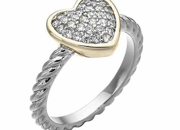 Heart CZ Cluster Fashion Ring