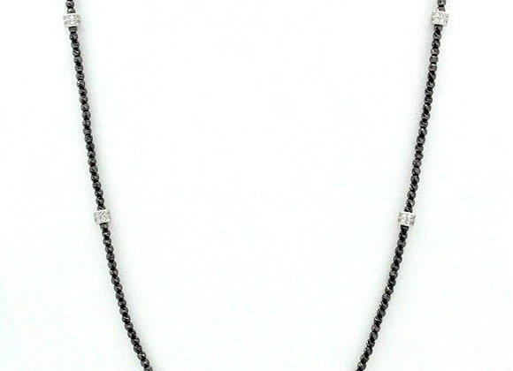 "Briolette 36"" Necklace Black"
