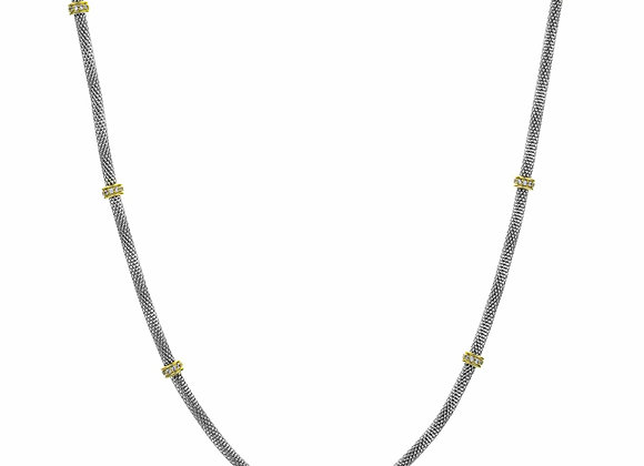 Long Accented Fashion Necklace