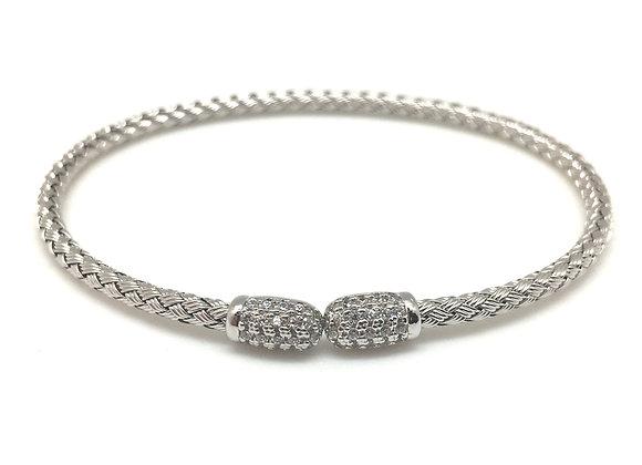 Anna Bella Tip Cuff Bracelet Rhodium