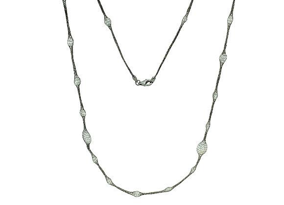 "Selene 36"" Necklace Black"