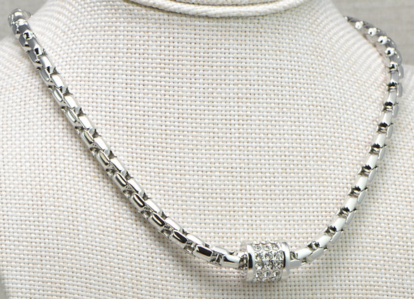 Fashion Necklace with CZ Pendant