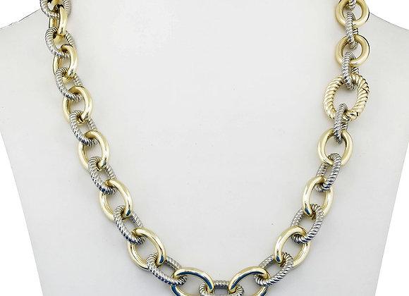 Interlocking Chain Fashion Necklace