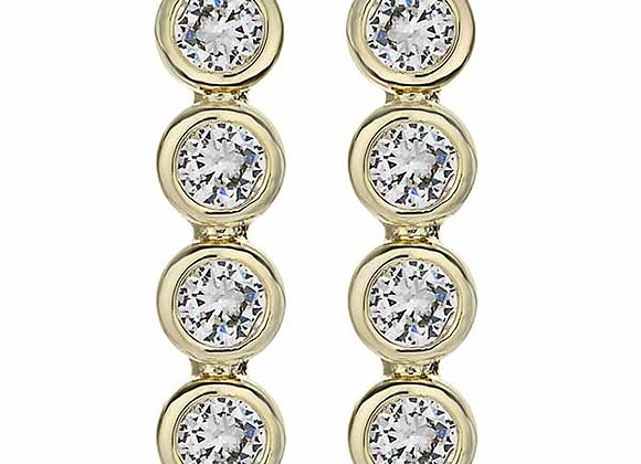 Bezel CZ Fashion Dangle Earrings