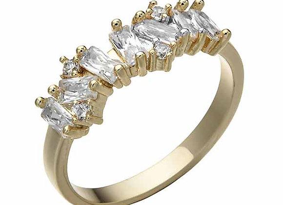 CZ Cluster Strand Fashion Ring