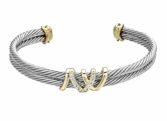 Double Strand Cuff Bracelet