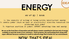 IDEAL Defined: Energy